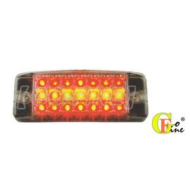 GO~FINE 夠好 車用led 21led燈高亮度統聯型白殼紅黃紅光3線2段恆亮led側