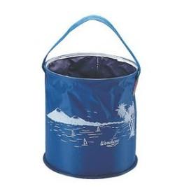 36300-台灣製 收納式尼龍水桶/10L/ 收納超方式.收納只有一點點 露營.釣魚.冰桶(缺貨)