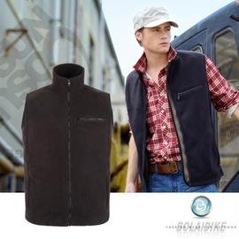 【波萊迪克bolaidike】男 單件式刷毛保暖背心.夾克.刷毛衣.保暖/防潑水/黑 TP612
