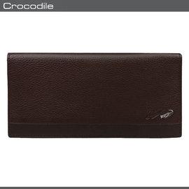 Crocodile 鱷魚 皮夾  長夾 0103~33512 咖啡色  真皮長夾 MyBa