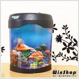 【winshop】A1430 第二代電子LED水母缸/日系療癒系螢光電子水母LED燈水母水族箱居家裝飾超有品味最佳贈品禮品