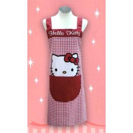 KITTY格子圍裙