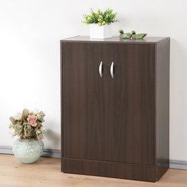 ~Homelike~簡約二門收納鞋櫃^(胡桃色^) 置物櫃 收納櫃 玄關櫃