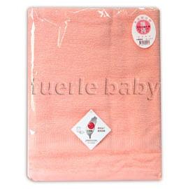 素色緞條浴巾(粉)