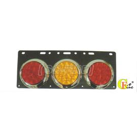 ~GO~FINE 夠好~汽車用led燈3孔圓型尾燈紅 黃 紅黑膠皮平面0度10led燈3線