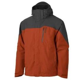【土撥鼠 Marmot 】男 GORE-TEX 可拆式二件式外套(內層Polartec 200)/超輕防水透氣(非羽絨衣).雪衣 30420 赭紅色/深灰色