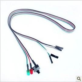 電腦開關電源線/ATX機箱開關線/RESET HDD LED SW電腦開關線/主機開關線帶燈