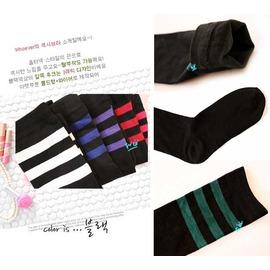 (特賣)時尚知性 條紋膝上襪 顯瘦+百搭+壓力 美腿襪  ◇/條紋襪 保暖襪中筒襪
