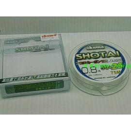 ◎百有釣具◎OKUMA 新改版 MFG 米諾克 SHOTAI 水態 卡夢/碳纖子線75米 規格5號