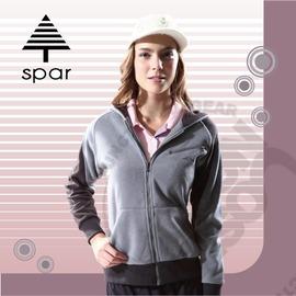 【SPAR】女款 連帽刷毛外套.保暖外套 / 質輕.吸濕.排汗.透氣.快乾.保暖.抗菌.抗靜電 / SA101926 灰色