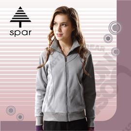 【SPAR】女款 彈性羅紋刷毛外套.保暖外套 / 質輕.吸濕.排汗.透氣.快乾.保暖.抗菌.抗靜電 / SA101931 灰色