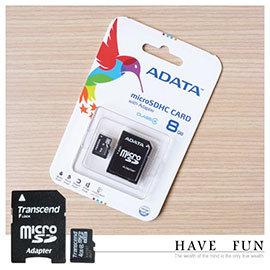 【winshop】B1439 創見/威剛8G記憶卡(TF轉SD)/原廠公司貨MicroSD T-Flash 8G手機記憶卡附SD轉接卡適插卡式音樂天使MP3音箱