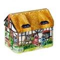 英式茅草屋彩繪紅茶罐