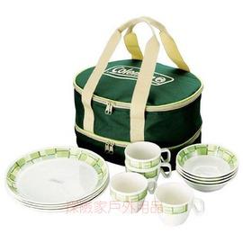 CM-9135美國Coleman四人餐具 美耐皿餐盤組 環保餐具組 露營 野營 野炊