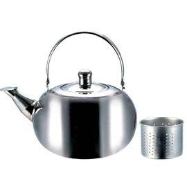 ^(主賣場^)小當家不鏽鋼濾網茶壺1.1公升 開水壺 球型壺 笛音壺^~ 1.3L  1.