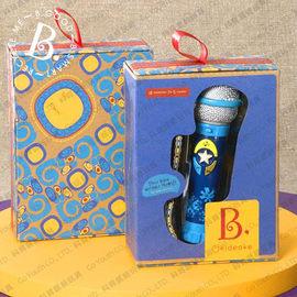 【紫貝殼】『CGA24-2』【美國B.Toys感統玩具】卡拉OK麥克風(藍)【店面經營/可預約看貨】