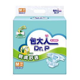 包大人親膚舒適-超值經濟型紙尿褲M-L16片(6包/箱)