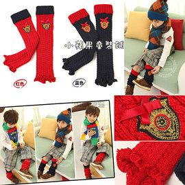兩色聖誕風針織毛線襪套