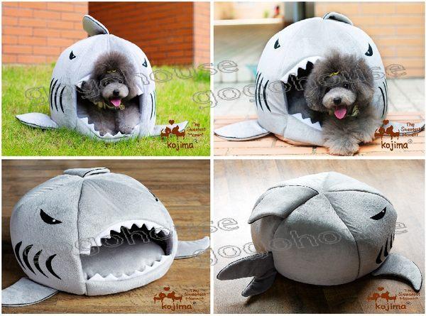 最新可爱鲨鱼造型宠物睡窝