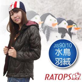 【瑞多仕-RATOPS】女20丹超輕羽絨衣.羽絨外套.保暖外套.雪衣 / 防風、防潑水、透氣、保暖 / c_RAD360 深咖啡色/暗紅色
