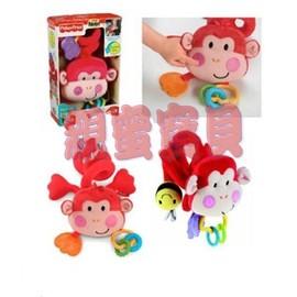 費雪Fisher Price-小猴子手推車玩具 *絨毛玩具俏皮可愛!*