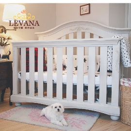 LEVANA【四合一系列】肯辛頓 嬰兒床/嬰兒成長床/兒童床(自然色-11/02到貨)