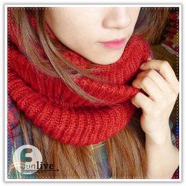 【Q禮品】B1443 多層次感圍脖/粗針織毛線圍脖/韓版保暖秋冬編織粗毛線套頭圍脖加厚圍巾披肩