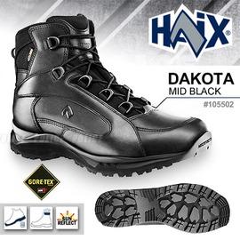 105502 德國HAIX Dakota mid black 黑色中筒皮靴 戰鬥靴