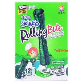 【吉嘉食品】香脆烤海苔卷/海苔捲[原味(帶點微辣)、辣味 兩種]~1盒12條入88元,全素