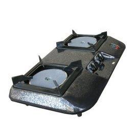 紅外線(雙口)=桶裝=瓦斯爐-可節省瓦斯[附自動斷瓦斯安全裝置]-js001-桶裝瓦斯(黑)