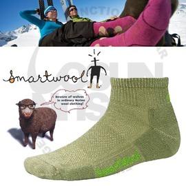 【 美國 SmartWool 】美國製造 美麗諾羊毛 輕薄短筒登山羊毛襪/.戶外襪.排汗襪.休閒襪.保暖襪. 彈性尼龍.吸濕抗菌/草綠 SW450