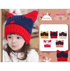 可愛動物貓咪造型針織帽/牛角帽/惡魔帽/貓耳帽(五色)【HH婦幼館】