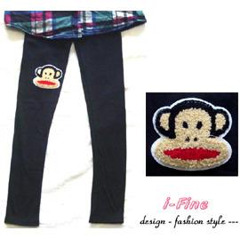 ~i~Fine艾芳 ~^~大嘴猴  舒適百搭 棉質內搭褲 ^(黑色^) ^~