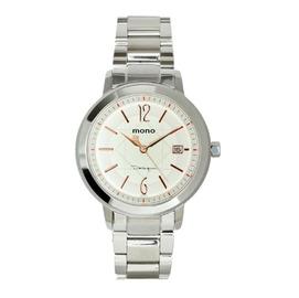 ~時間伙伴~ mono NEW海芋系列316L不鏽鋼男錶 中性錶~ 白