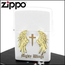 ◆斯摩客商店◆【ZIPPO】日系~Mighty Wings-天使翅膀立體貼飾打火機(白)