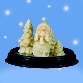 ~Qpoints~說故事的巧克力~ 森林聖誕花圈雪人巧克力組
