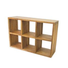 ~百美 館~OE030S 書房 新竹 全實木柚木 雙面櫃 隔間櫃 無背六格書櫃