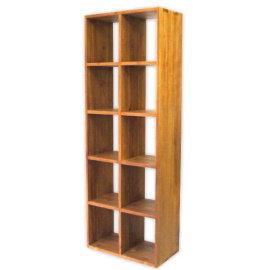 ~百美 館~OE031S 書房 新竹 全實木柚木 雙面櫃 隔間櫃 無背十格書櫃