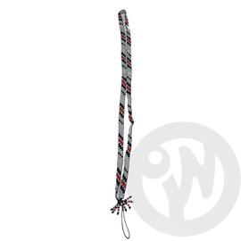~QUEENWOODS~原住民 達悟族 雅美族~手作串珠手機吊飾:紅白黑 風~浪之斜紋圖飾