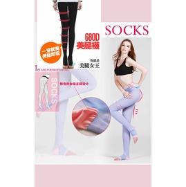 美腿女王680D強效 全方位睡眠 *最新連身長款設計* 機能美腿襪   ◇/連身露趾襪睡眠美腿襪/連襪/夜寢襪