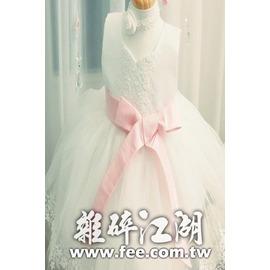 實拍兒童禮服公主裙 兒童婚紗 女童花童禮服 周歲寶寶生日連衣裙