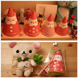 【HH婦幼館】Merry Christmas 聖誕老人組合包.禮物包裝袋立體卡四枚入