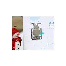 聖誕限定款 雪人 金屬書籤+贈賀卡+信封