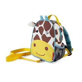 【紫貝殼】『HB14』美國 SKIP HOP 可愛動物園 ZOO-LET 迷你防走失背包~附防走失帶(長頸鹿/Giraffe)