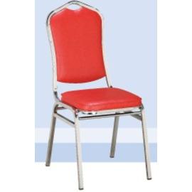 富士餐椅^(電鍍^)^(紅皮^)