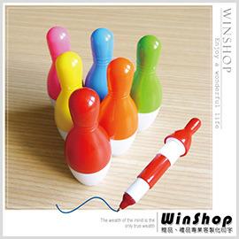 【winshop】A1459 保齡球瓶造型筆/伸縮保齡球筆多色保齡球圓珠筆保齡球伸縮筆廣告筆