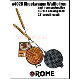 1028美國ROME羅馬鑄鐵達人 長柄圓形鬆餅烤具 鬆餅烤盤 (可搭配焚火台用)