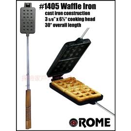 1405美國ROME羅馬鑄鐵達人 華夫長方形鬆餅烤盤三明治烤具(可搭配焚火台)