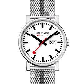 MONDAINE 瑞士國鐵時光走廊鋼鍊錶/40mm 62711M
