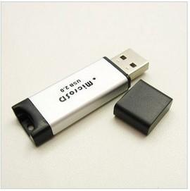 (鋁殼) 鋁合金micro SD/TF高速USB2.0  SD讀卡器/隨身碟卡套/讀卡機
